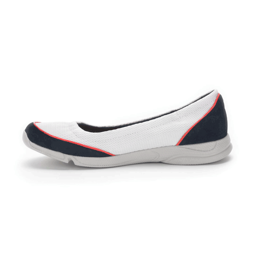 Cycle Motion Ruched Ballet Women's Flats in Navy